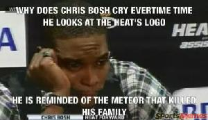 Chris Bosh crying